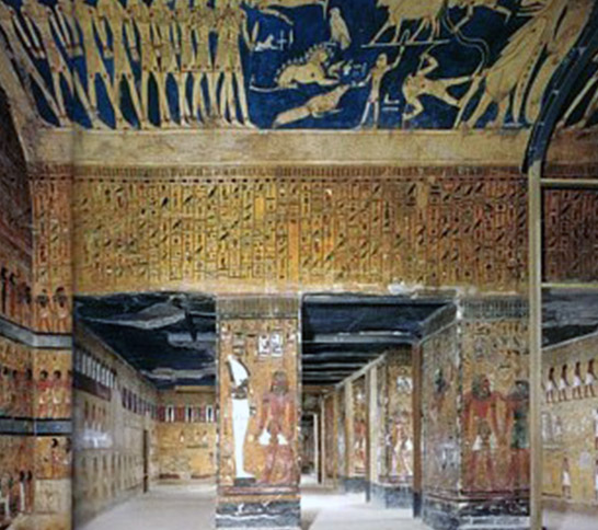 Art and architecture of the egypt new kingdom short for Ancient egyptian tomb decoration