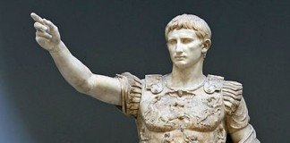 The statue known as the Augustus of Prima Porta