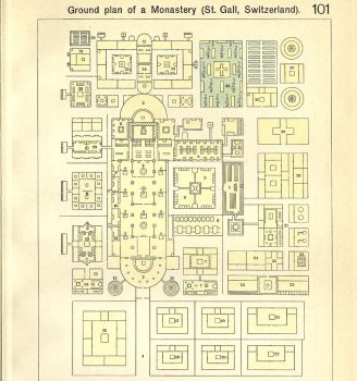 Ground Plan of a Monastery (St.Gall, Switzerland)