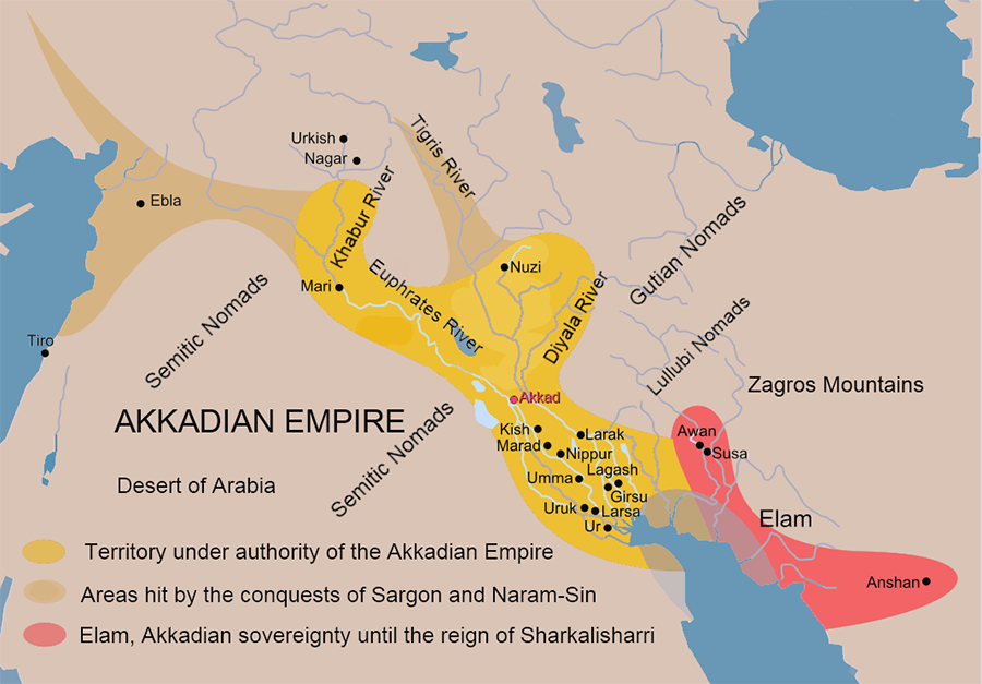 Akkadian Empire 2400 2007 Bc Short History Website