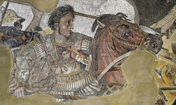 Alexander Mosaic, dating from circa 100 BC, found in ancient city Pompeii.