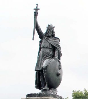 Alfred The Great statue in Winchester