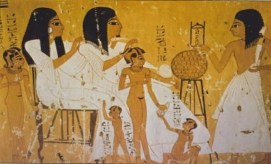 Ancient-Egyptian-womans-and-children