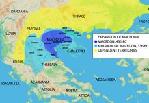 Map of the Ancient Maecodnia 431-336 BC