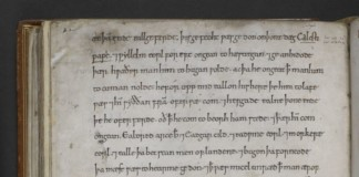 Page from Anglo-Saxon-Chronicle