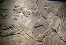 Ashur-nasir-pal-II relief in Brooklyn Museum. Image source: www.flickr.com/photos/wallyg/2440284976