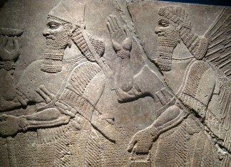 Ashur-nasir-pal-II relief in Brooklyn Museum. Image source: www.flickr.com/photos/wallyg/2440284976