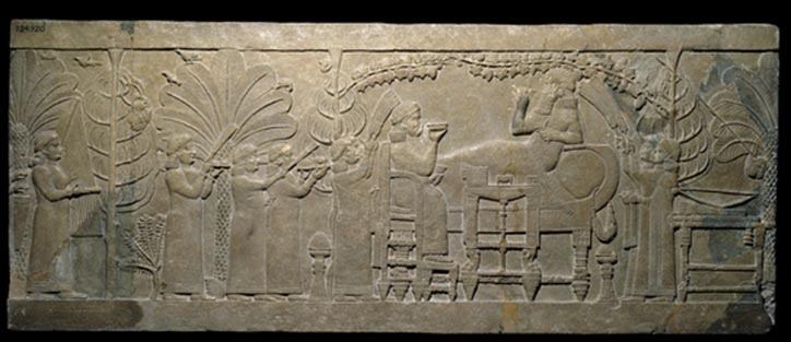 Relief from Nineveh palace during Ashurbanipal rule. Source of image: www.britishmuseum.org