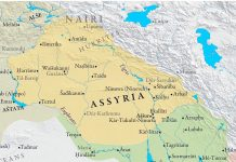 Map of Assyrian empire (around 1000BC)