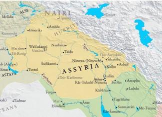 Map of Assyrian empire (around 1000BC)