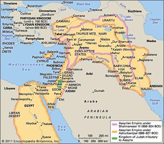 Assyrian Empire map
