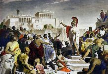Athenian-politician-Pericles-in-front-of-the-Assembly-by-painter-Philipp-Foltz-19-century