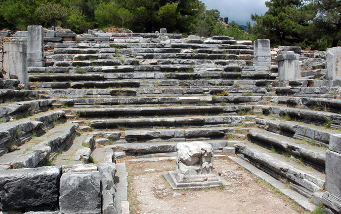 Example of Bouleuterion in ancient Greek city Priene.