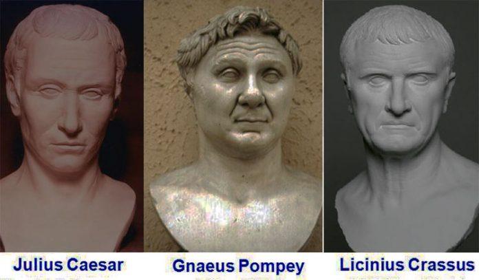 Caesar Pompey and Crassus