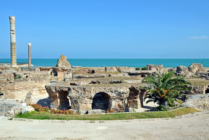Ruins of Carthage, Phoenician colony. Today's location Tunis.