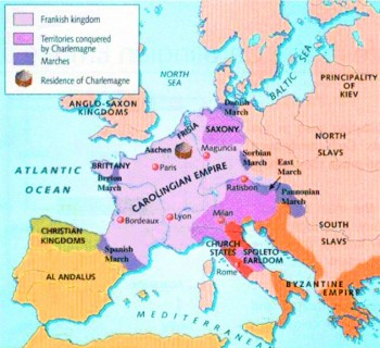 Map of Carolingian kingdom