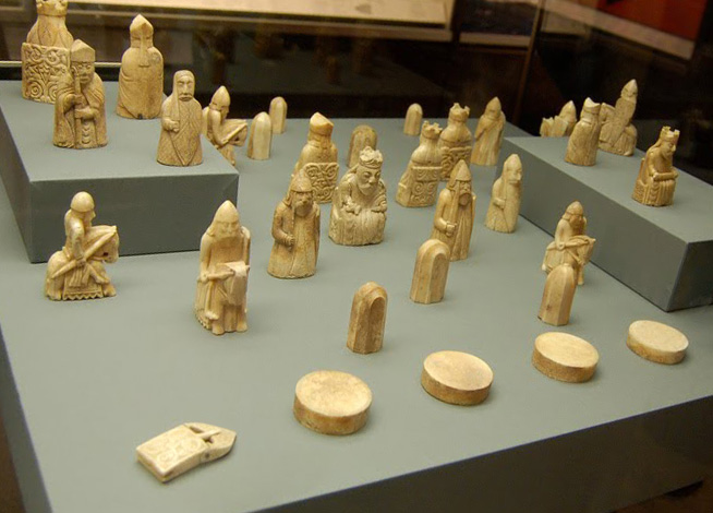 Chess Pieces from London Museum.
