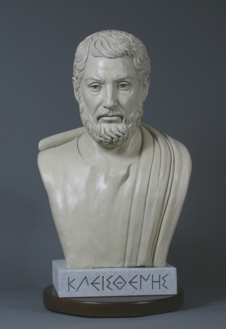 Cleisthenes modern bust presented in 2004 at the Ohio statehouse. More about bust: www.ohiochannel.org/MediaLibrary/Media.aspx?fileId=122205
