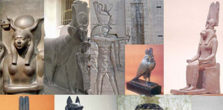 Ancient Egyptians believed in different gods (polytheism)