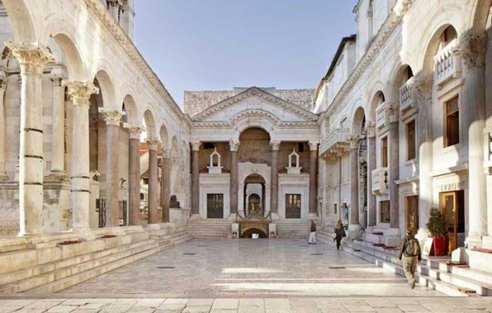 Diocletian palace in Split (Croatia)