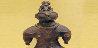 Dogu figurine from Jomon period - Tokyo National Museum