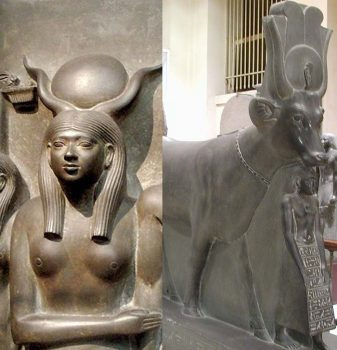 Two different forms of goddess Hathor