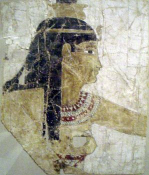 Painted image of the goddess Isis around II century BC. Currently location Metropolitan Museum of Art in New York