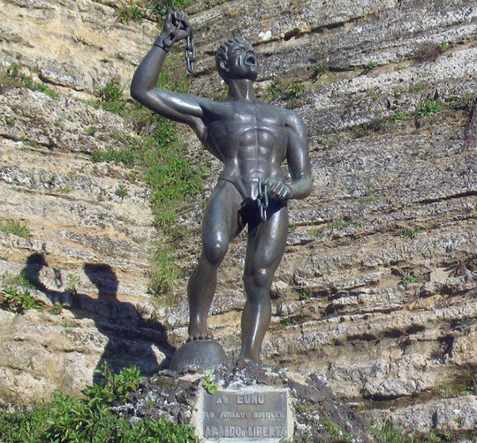 Eunus statue in Sicily