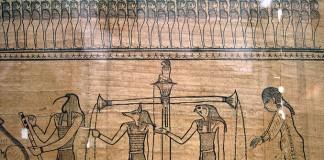 Example of the ritual-scene in Book of Dead