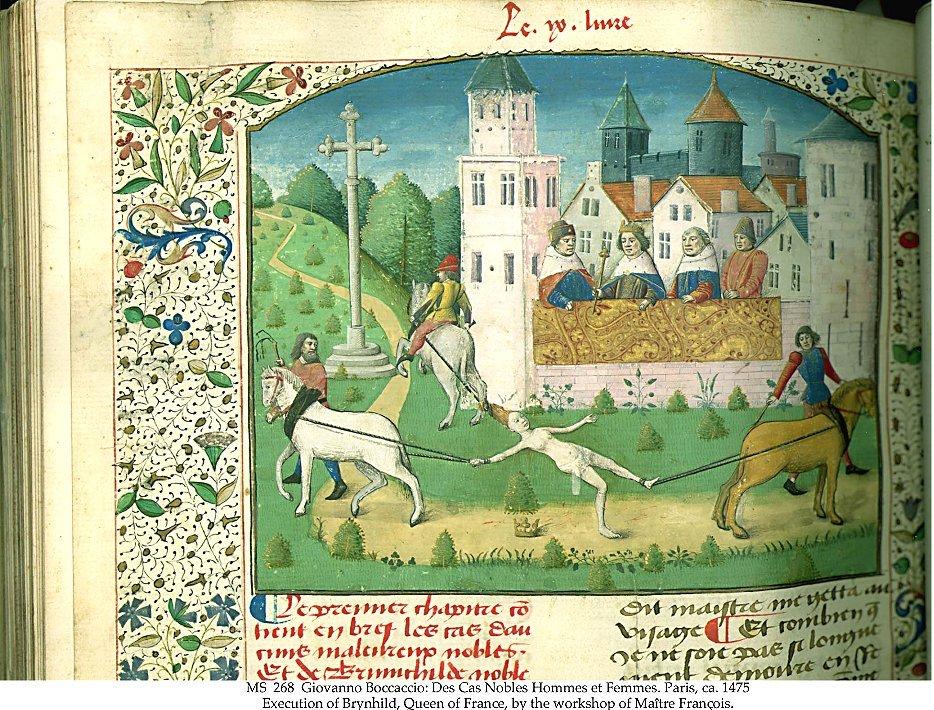Execution of Brunhilda by Giovanno Boccacco.