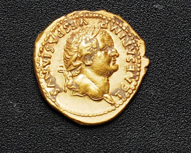 Gold coin from Pompeii