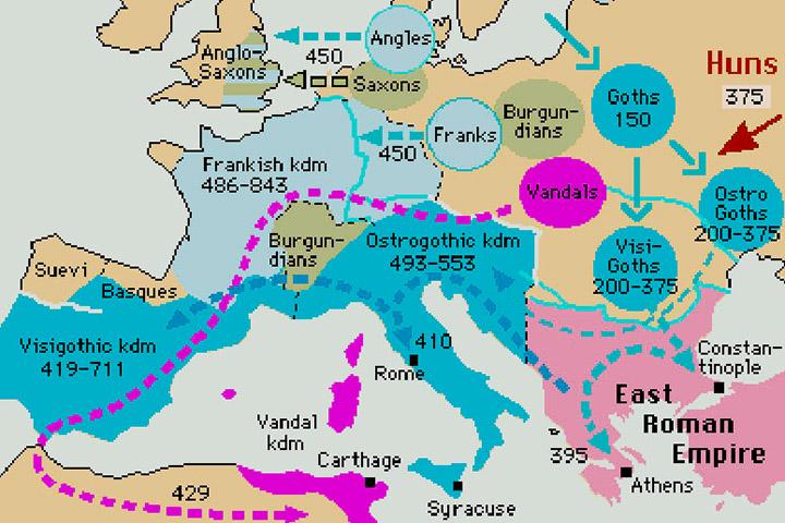 Beginning of Visigoths migration (4th century AD)