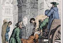 Black Death in London 1665.