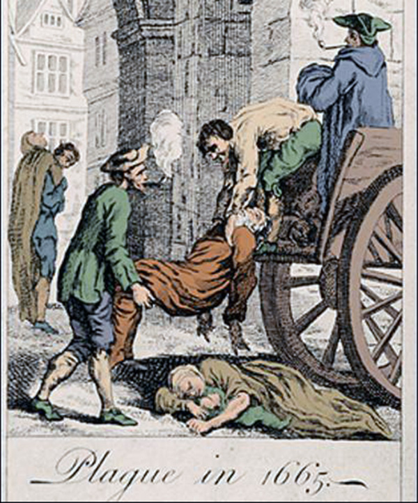 Black Death in London 1665.