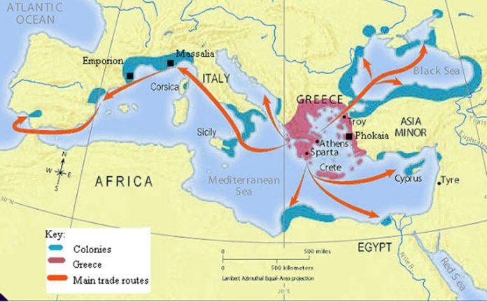 Map of Greek Colonization