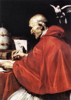 Saint Gregory the Great by artist Jusepe de Ribera (17 century)
