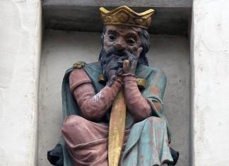 Gundobad statue in Geneva (Switzerland)