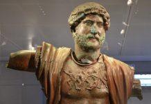 Bronze statue of Hadrian