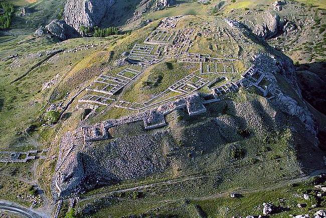 Ruins of Hittite capital city Hattusa