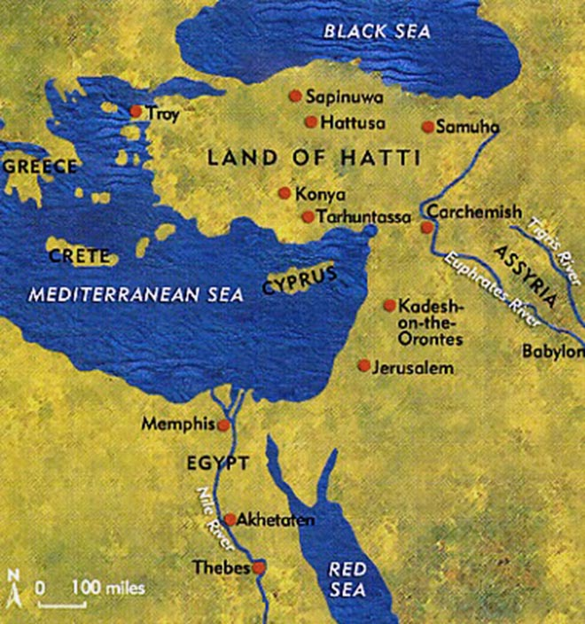 Hittite and Egypt empire map