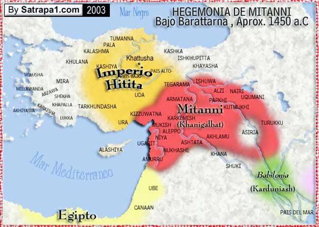 Hittites and Mitanni map
