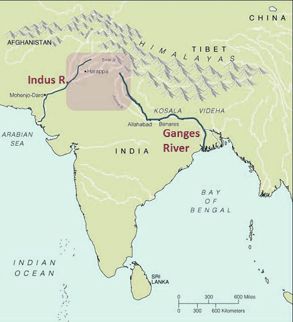 Indus and Ganges river map