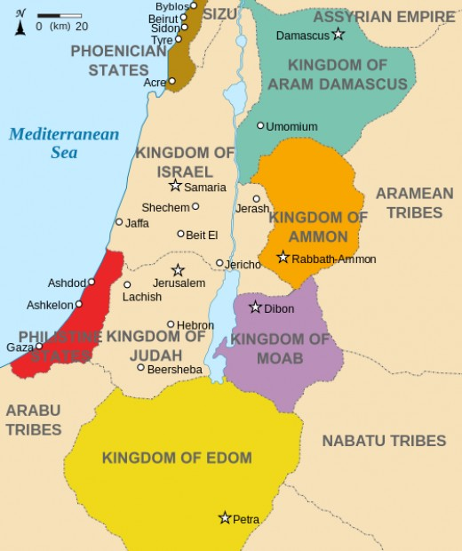 Israel and Judah around 600 BC