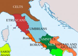 Italic tribes in V century BC