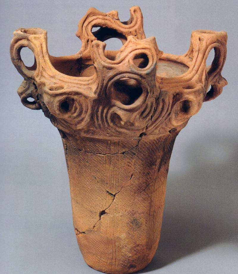 Vessel from Jomon period (ca. 10,500 B.C.–ca. 300 B.C.)-Metropolitan Museum of Art