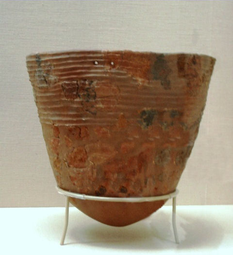 Incipient Jomon period pottery.