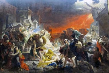 """The Last Day of Pompeii"" oil on canvas by Russian painter Karl Pavlovich Bryullov (1830-1833)."