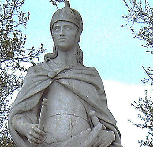 Statue of Visigothic king Ataulf.