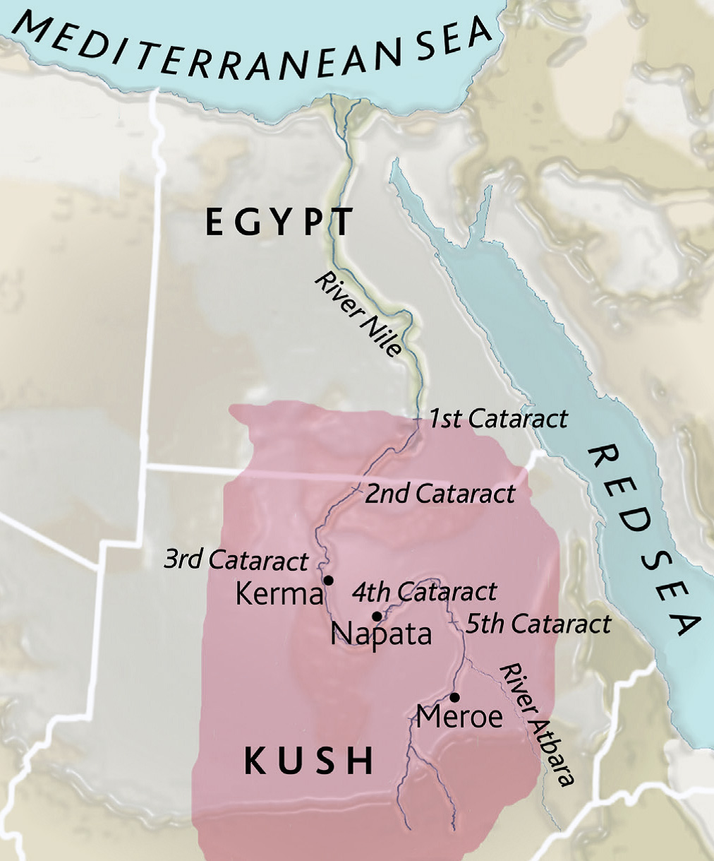 Kingdom of Kush map