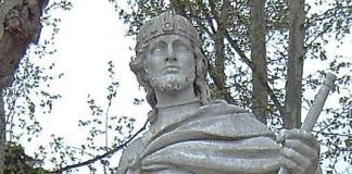 Statue of Luivigild in Madrid. Photograph: Luis Garcia